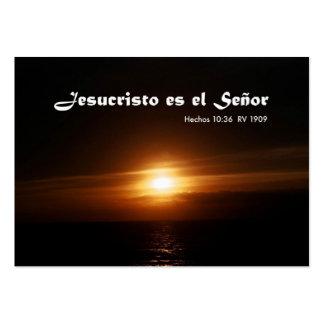 Jesucristo es el Señor (Carta Personal) Business Cards