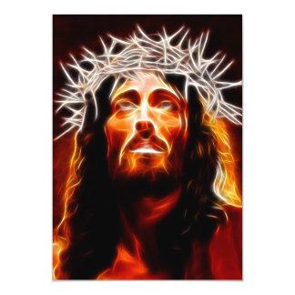 Jesucristo nuestro salvador invitación 12,7 x 17,8 cm
