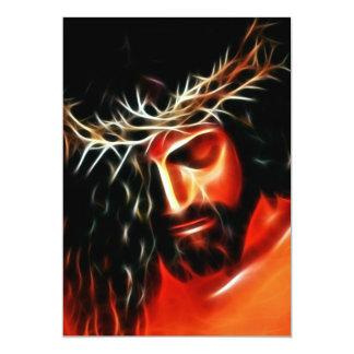 Jesucristo que llora para usted invitación 12,7 x 17,8 cm