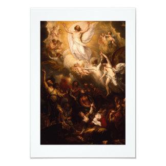 Jesucristo que sube a través de las nubes invitación 8,9 x 12,7 cm