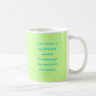 Jesucristo, regalo del navidad taza de café