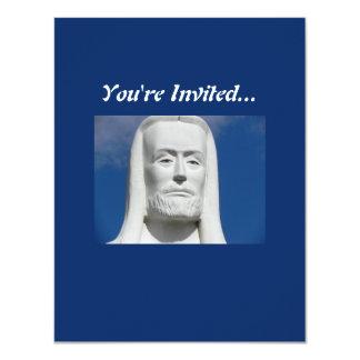 Jesucristo religioso invitación 10,8 x 13,9 cm