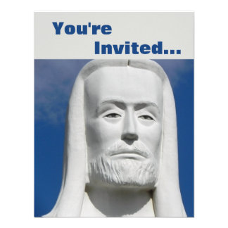 Jesucristo religioso invitación personalizada