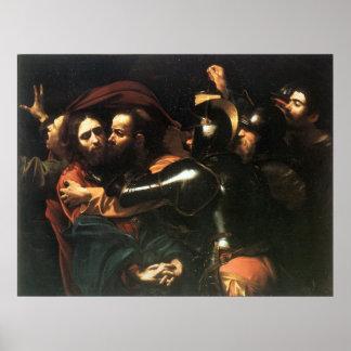 Jesucristo santo del vintage, beso de Judas, Póster