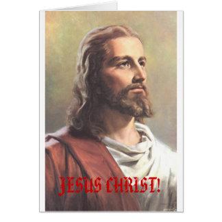 ¡JESUCRISTO! tarjeta de Navidad de la