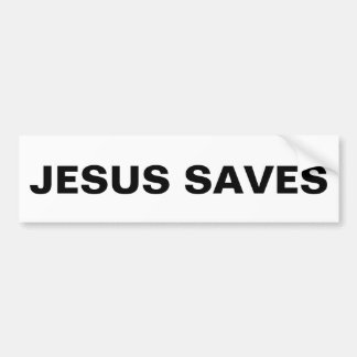 """""""Jesús ahorra"""" a la pegatina para el parachoques"""