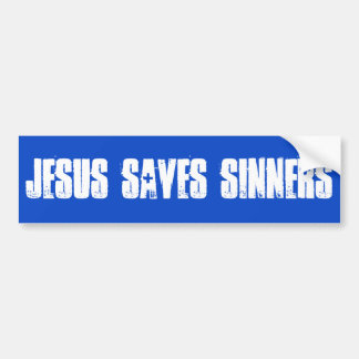 Jesús ahorra a la pegatina para el parachoques de