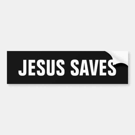 JESÚS AHORRA AL PEGATINA DE BUMPLER