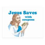 Jesús ahorra con las cupones postales