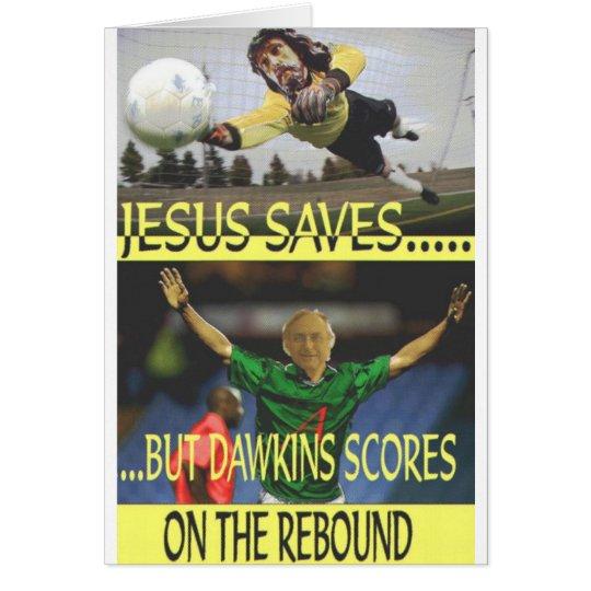 Jesús ahorra… tarjeta de felicitación