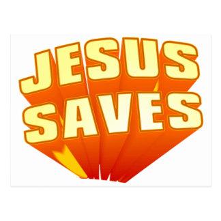 ¡Jesús ahorra! Postal