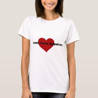 Jesús ama a amputados camiseta
