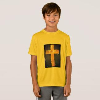 Jesús amarillo me ama camiseta deportiva