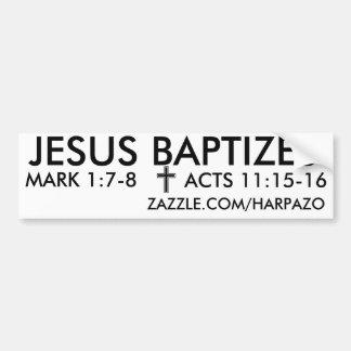 JESÚS BAUTIZA PEGATINA PARA COCHE