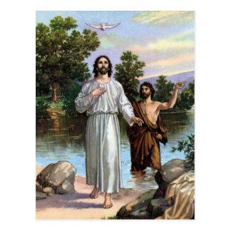 Jesús bautizó postal