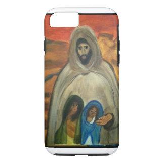 Jesús con dos niños funda iPhone 7