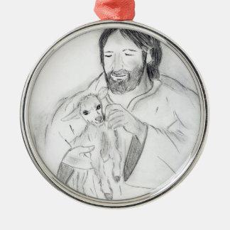 Jesús con el cordero adorno para reyes