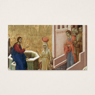 Jesús con la mujer en el pozo tarjeta de negocios