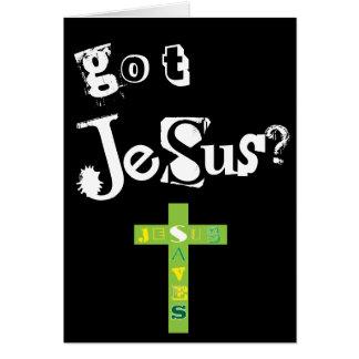 Jesús conseguido tarjeta de felicitación