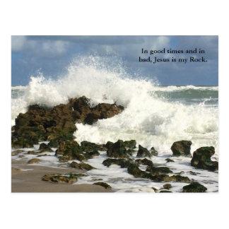 Jesús cristiano es mi postal de la roca, religiosa