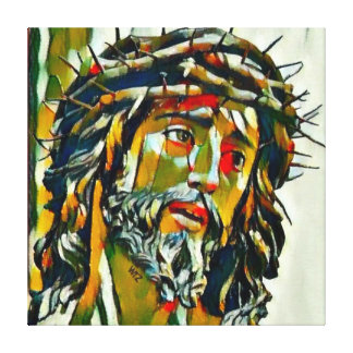 Jesús del aceite de Nazaret en el retrato de la Impresión En Lienzo