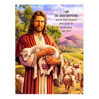 Jesús el buen pastor que pinta las postales de