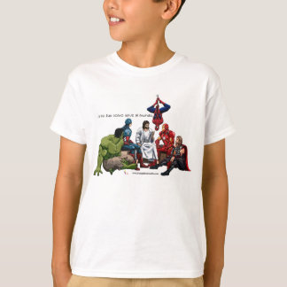 Jesús el verdadero heroe camiseta