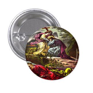 Jesús en el botón de Gethsemane Chapa Redonda 2,5 Cm