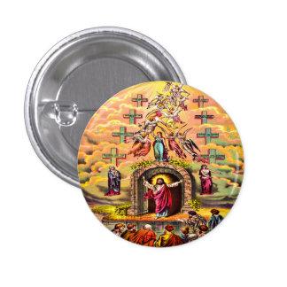 Jesús en el botón de la puerta del cielo chapa redonda 2,5 cm