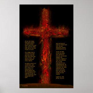 Jesús en Isaías 53 Póster