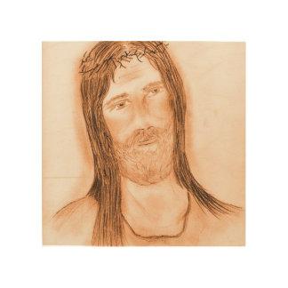 Jesús en la luz impresión en madera