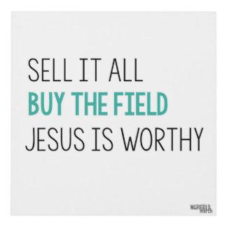 Jesús es digno cuadro