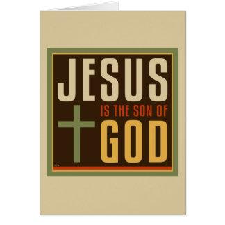 Jesús es el hijo de dios tarjeta de felicitación