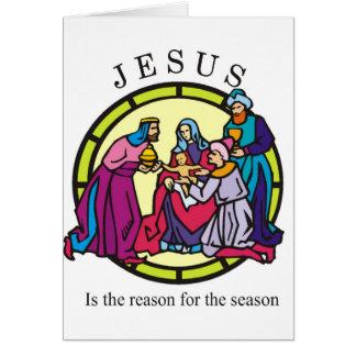 Jesús es la razón de la estación felicitaciones