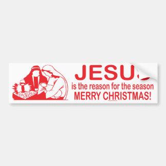 Jesús es la razón de la pegatina para el