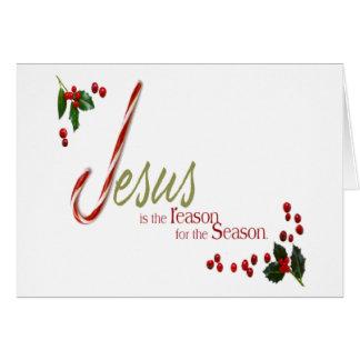 Jesús es la tarjeta de felicitación del navidad de