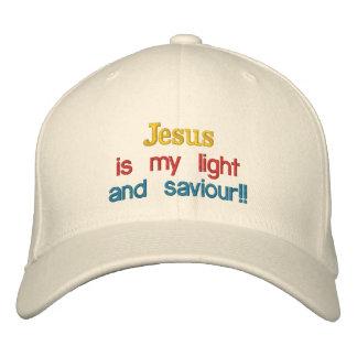 ¡Jesús es mi luz, y salvador!! , Gorras De Béisbol Bordadas