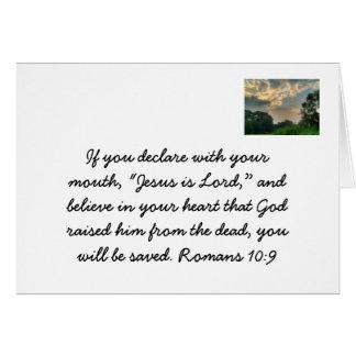 Jesús es señor felicitacion