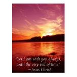 Jesús está con usted postal