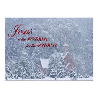 Jesús esta estación - capilla de Yosemite en Invitación 12,7 X 17,8 Cm