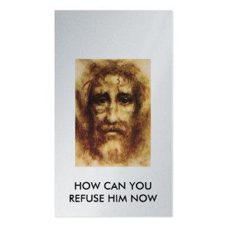 jesus_face_with_blood, CÓMO PUEDE USTED AHORA Tarjetas De Visita