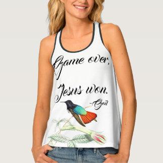 Jesús ganó las camisetas sin mangas de las flores
