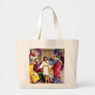 Jesús joven bolsa tela grande