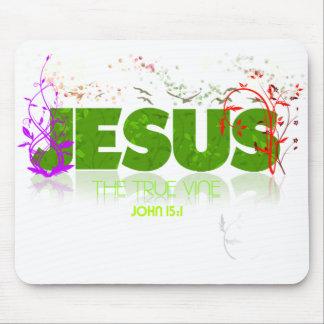 Jesús - la vid verdadera Mousepad
