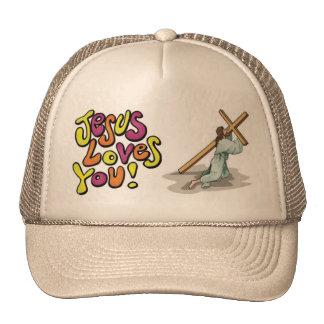 Jesús le ama imagen del gorra