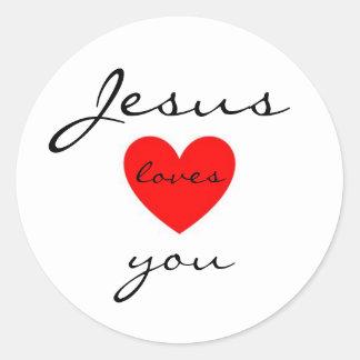 Jesús le ama pegatina