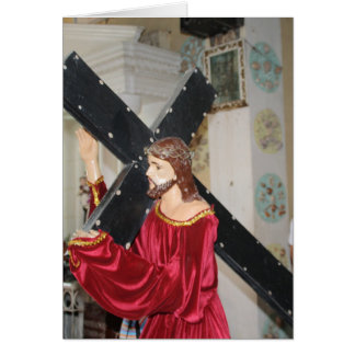 Jesús lleva la cruz tarjetas