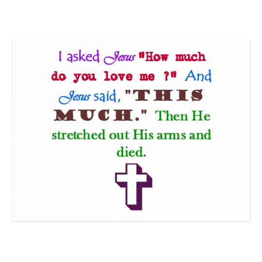 Jesús me ama postal