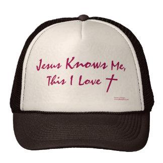 """""""Jesús me conoce, éste amor de I"""" (Genio-nosotros  Gorra"""