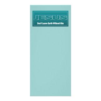 JESÚS no deja la tierra sin él Tarjeta Publicitaria Personalizada